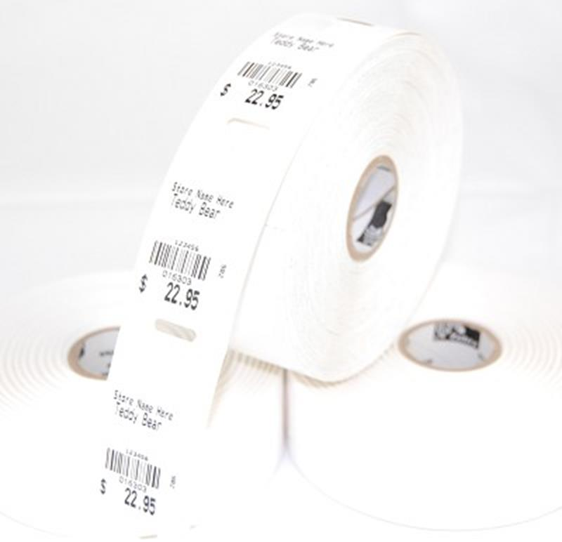"""String Tag with hole,1.25""""x2.25"""",7 mil,6 rolls, 5,880tgs/bx,ZEB-10010053-CASE"""