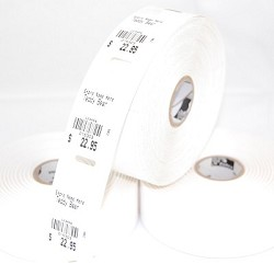 "String Tag with hole,1.25""x2.25"",7 mil,6 rolls, 5,880tgs/bx,10010053"