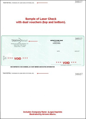 Laser A/P Checks, 1 Part, 1000,9400