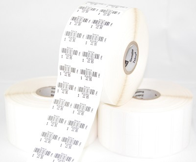 7/8'' x 1/2'' Labels - 2 Up, Perm Adhesive, 12 rolls/box,10002237